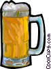 Vector Clip Art picture  of a mug of beer