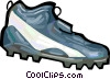Vector Clipart picture  of a Football cleats