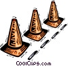pylons Vector Clipart picture