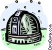 Vector Clipart illustration  of a observatories