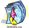 surfing on the world wide web Vector Clip Art image