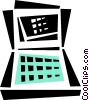 Vector Clip Art image  of a laptop/notebook computer