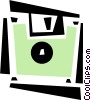 Vector Clip Art image  of a floppy disk