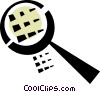 magnifying glass Vector Clipart illustration