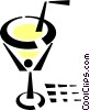 cocktail glass Vector Clipart illustration