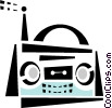stereo mini system Vector Clipart graphic