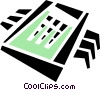 Vector Clipart graphic  of a processing chip