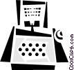 computer desktop system Vector Clipart graphic