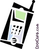 Vector Clip Art graphic  of a walkie-talkie