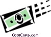 Vector Clipart graphic  of a dollar bill