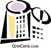 Vector Clip Art image  of a trash can