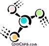 Vector Clipart illustration  of a molecules/atoms