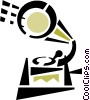 gramophone Vector Clip Art graphic
