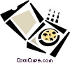 Vector Clipart illustration  of a pizza