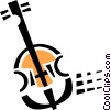 double bass Vector Clipart picture