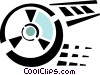 Vector Clip Art graphic  of a film reel
