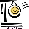 Vector Clip Art graphic  of a gong