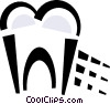 Vector Clip Art image  of a tooth