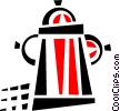 Vector Clip Art graphic  of a fire hydrant