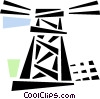 Vector Clipart image  of a hydro tower