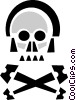 Vector Clip Art picture  of a skull and crossbones