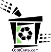 Vector Clipart graphic  of a recycle box