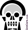Vector Clipart illustration  of a skull
