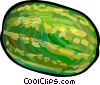 Vector Clipart image  of a Watermelon