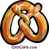 Vector Clipart illustration  of a Pretzel