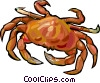 Vector Clip Art graphic  of a crab