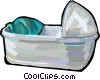 Baby crib Vector Clipart picture