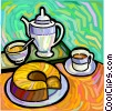 Coffee and coffee cake Vector Clipart illustration