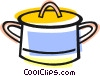 Vector Clip Art graphic  of a cooking pot