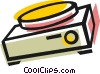 Vector Clip Art picture  of a Slide projector