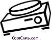 slide projector Vector Clipart illustration