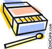 box of matches Vector Clipart graphic