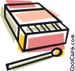Vector Clipart illustration  of a box of matches