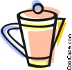 Vector Clipart image  of a coffee pot