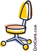 Vector Clip Art image  of a office chair