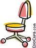 Vector Clipart graphic  of a office chair
