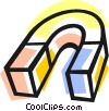 Vector Clip Art picture  of a magnet