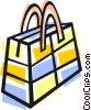 shopping bag Vector Clipart illustration