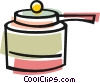 Large pot Vector Clipart illustration