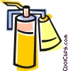 Vector Clipart graphic  of a fire extinguisher