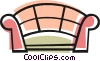 Vector Clip Art picture  of a Love seat