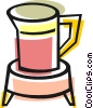 Vector Clip Art image  of a Pitcher of juice