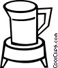 Vector Clipart illustration  of a pitcher