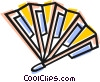 hand fan Vector Clipart graphic