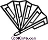 Vector Clipart illustration  of a hand fan