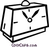 Vector Clip Art graphic  of an alarm clock